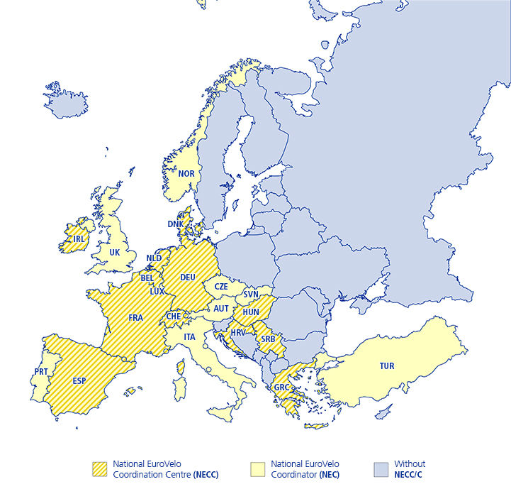 National EuroVelo Coordination Centres and Coordinators
