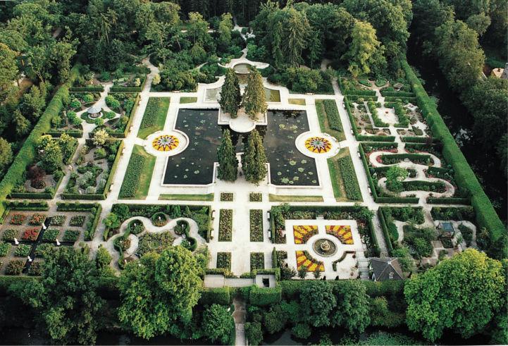 Jardins du château d'Arcen, EuroVelo 19, Pays-Bas