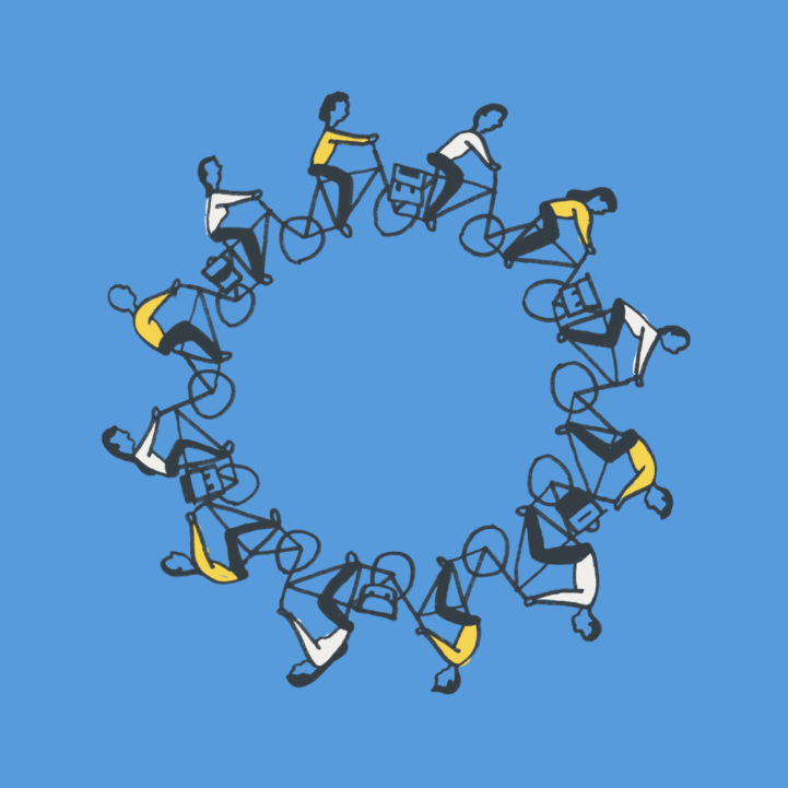 EuroVelo and Cycling Tourism Conference logo blue