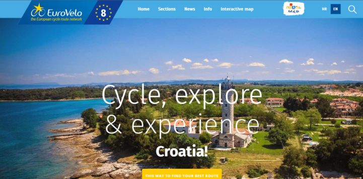 Screenshot of Croatian EV8 website